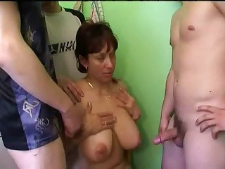 Russian mature mom and friends her..