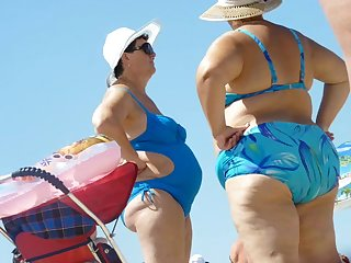Russian Grannies with big asses in the..