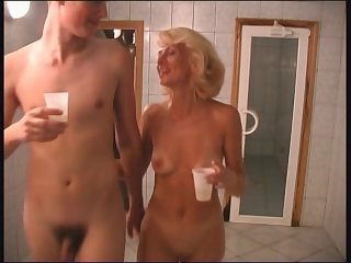 RUSSIAN MOM  14 blonde matre with a..
