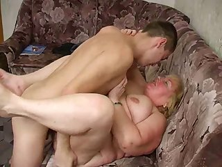 Russian mature thick Mom and her boy!..