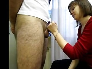 Russian Mature Woman Sucks Dick