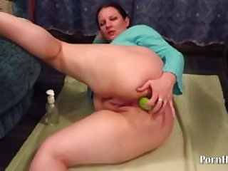 Vegetables in a big ass mature aunt!
