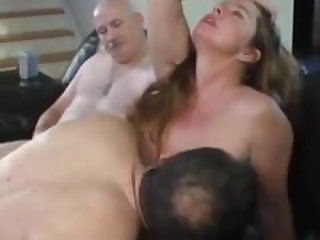 Amateur orgy of old and young unloading..