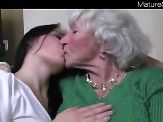 Lesbian Teens + Granny Norma From..